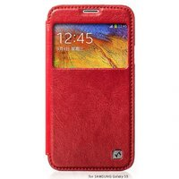 Чехол книжка HOCO для Samsung Galaxy S5 mini красный с окошком - HOCO Crystal View Red