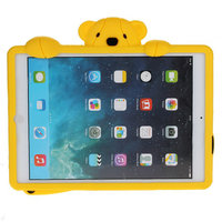 Силиконовый чехол медведь для iPad Air желтый мишка Smart Silicone Back Cover Yellow Bear