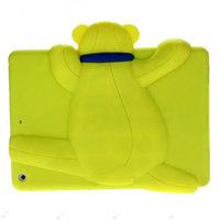 Силиконовый чехол медведь для iPad Air салатовый мишка Smart Silicone Back Cover Light Green Bear