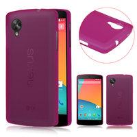 Ультратонкий чехол для Google Nexus 5 розовый - 0.3 mm Ultra Thin Matte pink Case