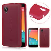Ультратонкий чехол для Google Nexus 5 красный - 0.3 mm Ultra Thin Matte Red Case