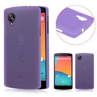 Ультратонкий чехол для Google Nexus 5 фиолетовый - 0.3 mm Ultra Thin Matte Purple Case