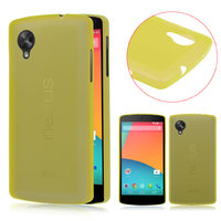 Ультратонкий чехол для Google Nexus 5 желтый - 0.3 mm Ultra Thin Matte Yellow Case