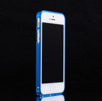 Металлический ультратонкий бампер Fashion Blue Bumper 0.7mm для iPhone 5s / SE / 5 синий