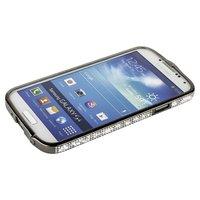 Бампер металлический Newsh для Samsung Galaxy S4 i9500 / i9505 со стразами черный