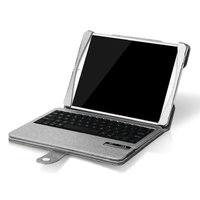 Чехол клавиатура для iPad Air c русскими буквами Bluetooth Case Silver