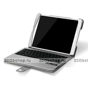 Чехол клавиатура для iPad Air c русскими буквами Bluetooth Case Silver