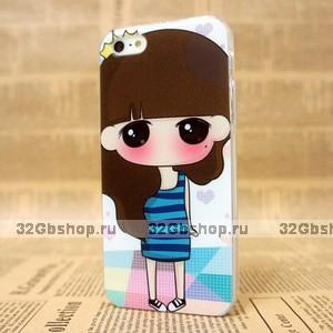 Чехол накладка для iPhone 5s / SE / 5 Blush girl