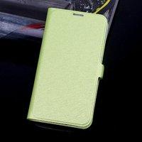 Чехол книга для Samsung Galaxy S5 зеленый - Silk Grain Book Case Green
