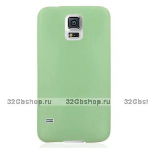 Ультратонкий чехол для Samsung Galaxy S5 mini зеленый - Ultra Thin Green Case