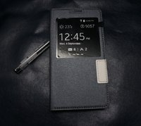 Черный чехол с окном S View Window Black Case для Samsung Galaxy S5