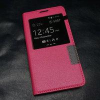 Розовый чехол с окном S View Window Pink Case для Samsung Galaxy S5
