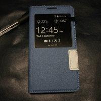 Синий чехол с окном S View Window Blue Case для Samsung Galaxy S5