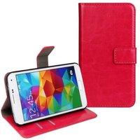 Чехол кошелек для Samsung Galaxy S5 розовый - Crazy Horse Wallet Case Pink