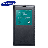 Оригинальный чехол с окошком S View Cover Black для Samsung Galaxy S5 SM-G900 черный