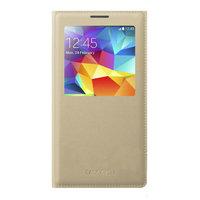 Чехол с окошком S View Cover Gold для Samsung Galaxy S5 золотистый