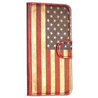 Чехол кошелек Американский флаг для Samsung Galaxy S5 - USA Pattern Wallet Case