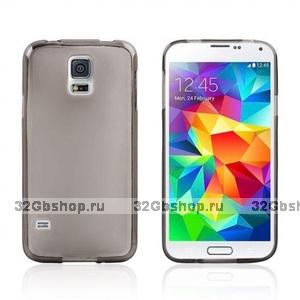 Силиконовый чехол для Samsung Galaxy S5 i9600 серый - Slim Silicone Case Grey