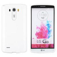 Белый глянцевый силиконовый чехол для LG G3