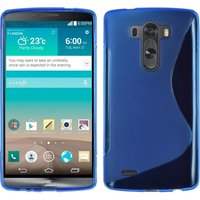 Голубой силиконовый чехол для LG G3 - Type S Line Case Blue