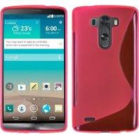Розовый силиконовый чехол для LG G3 - Type S Line Case Pink