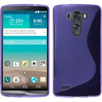 Фиолетовый силиконовый чехол для LG G3 - Type S Line Case Purple