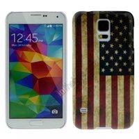 Силиконовый чехол для Samsung Galaxy S5 ретро флаг США