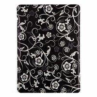 Чехол Jisoncase для iPad Air 5 черный с белыми узорами