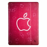 Чехол Jisoncase для iPad Air 5 розовый с логотипом Apple