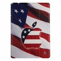 Чехол Jisoncase для iPad Air 5 Американский флаг и логотип Apple