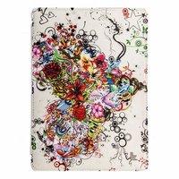 Чехол Jisoncase для iPad Air 5 с узором сердце из цветов