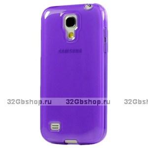 Фиолетовый прозрачный силиконовый чехол для Samsung Galaxy S4 Mini