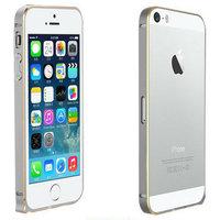 Металлический бампер Fashion Grey&Gold для iPhone 5s / SE / 5 серый с золотой гранью