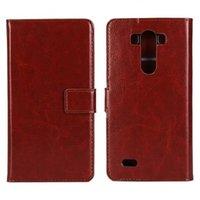 Коричневый чехол кошелек для LG G3 - Crazy Horse Wallet Case Brown