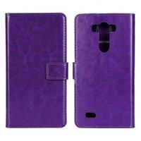Фиолетовый чехол кошелек для LG G3 - Crazy Horse Wallet Case Purple