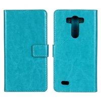 Чехол кошелек для LG G3s бирюзовый - Crazy Horse Wallet Case Sky Blue
