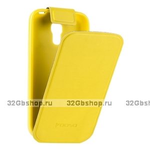 Чехол Kooso для Samsung Galaxy S4 mini i9190/ i9192 Duos - Kooso Flip case Yellow