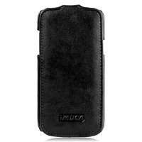 Чехол кожаный IMUCA для Samsung Galaxy S4 mini i9190 Flip case Black