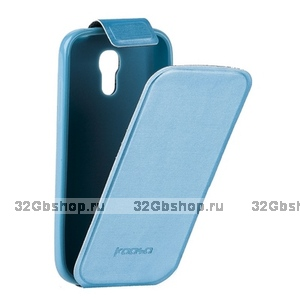 Чехол Kooso для Samsung Galaxy S4 mini i9190/ i9192 Duos - Kooso Flip case Blue