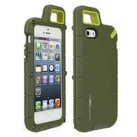 Чехол накладка противоударная PX360 для iPhone 5s / SE / 5 + карабин зеленая