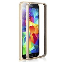 Золотой аллюминевый бампер для Samsung Galaxy S5 mini