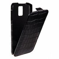 Кожаный чехол Melkco для Samsung Galaxy S5 черный крокодил -  Leather Case Crocodile Black