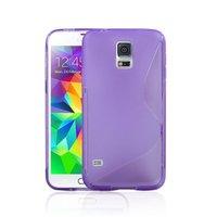 Силиконовый чехол для Samsung Galaxy S5 mini фиолетовый - S Style TPU Case Purple