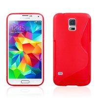 Силиконовый чехол для Samsung Galaxy S5 mini красный - S Style TPU Case Red