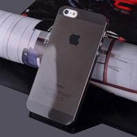 Чехол накладка для iPhone 5s / SE / 5 черный прозрачный пластик