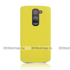 Желтый пластиковый чехол для Lg G2 mini - Rubberized Plastic Cover - Yellow