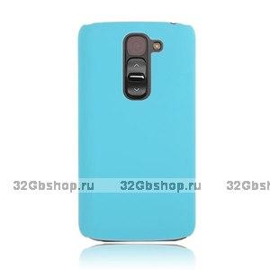 Голубой пластиковый чехол для LG G2 mini - Rubberized Plastic Cover - Sky Blue