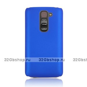 Синий пластиковый чехол для Lg G2 mini - Rubberized Plastic Cover - Blue