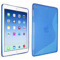 Чехол силиконовый для iPad Air - S Style Case Blue - голубой
