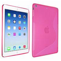 Чехол силиконовый для iPad Air - S Style Case Pink - розовый